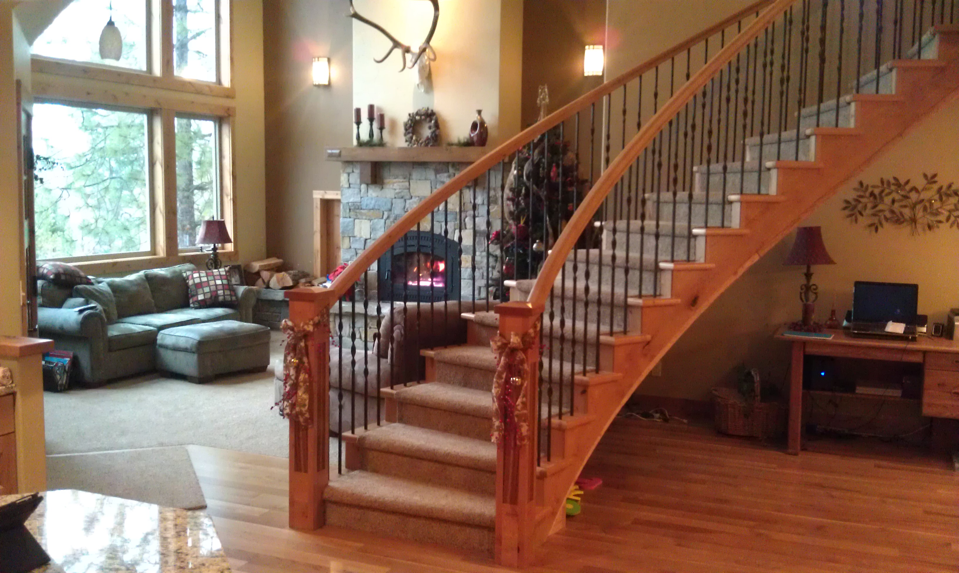 Home for 8 foot spiral staircase